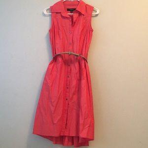 Hi-low Orange-Red Dress